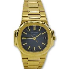 Man's Patek Philippe Nautilus 18 Karat Yellow Gold