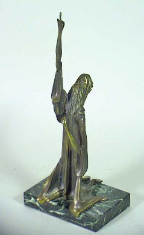 """Jesus Kneel"" Hard To Find Sgnd Tom Bennett Bronze"