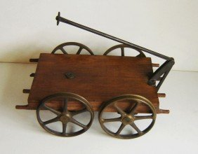 Railroad Brass Patent Model Pullman Cart
