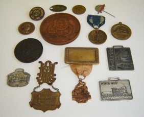 14 Antique Medals