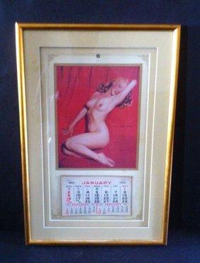 Original 1955 Marilyn Marilyn Monroe Framed Calender