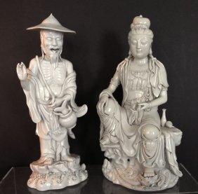 Nice Pr. Of Vintage Blanc De Chine Figures