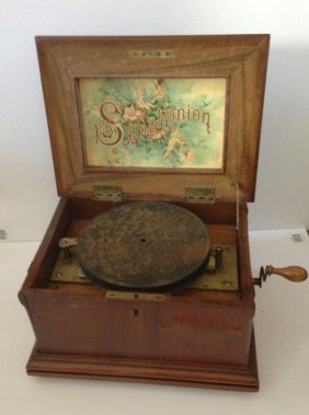 "Circa  1880  8 1/4 "" Disc Symphonion"