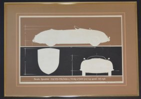 Walt Disney Artist Roy Williams Porsche Litho