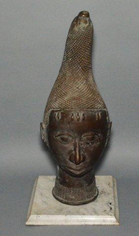 Antique African Bronze Bust