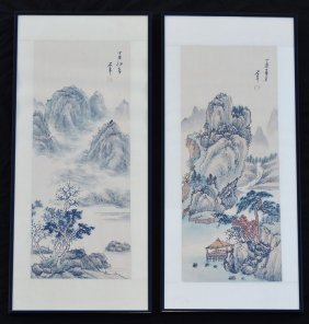 Two Signed Chinese Watercolor Paintings