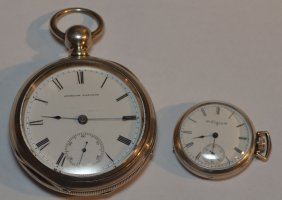 2 American Sterling Silver Pocket Watches