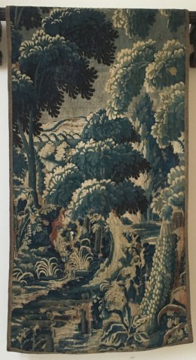 Antique French Verdure Tapestry Wall Hanging