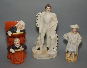 3 Pcs Of Staffordshire Porcelain (prince Albert, Henry