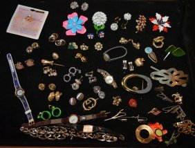 Large Collection Of Various Costume Jewelry