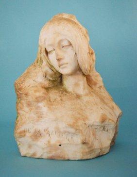 Marble Bust Of Louise De La Valliere Manner Of Pochini