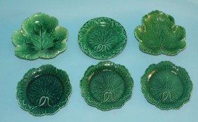 Wedgwood Majolica Leaf Plates / Dishes