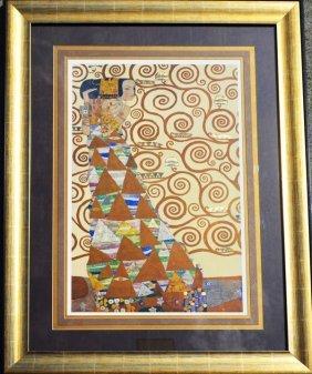 Gustav Klimt Style Gold Foil Print