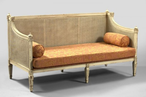 Painted Rattan Daybed