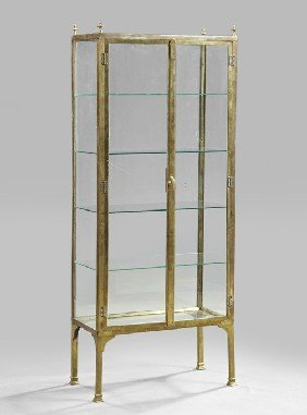 1293 contemporary brass and glass vitrine lot 1293 for M furniture gallery new orleans