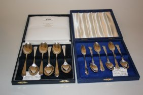 Cased Set Of Six Sheffield Silver Coffee Spoons, Dated