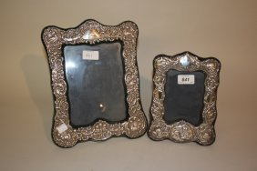 Two Modern Silver Mounted Victorian Style Photograph