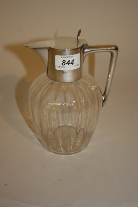 Early 20th Century Chester Silver Mounted Glass Claret