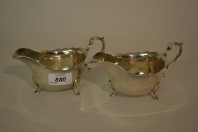 Pair Of George V Silver Sauce Boats, Edinburgh 1930