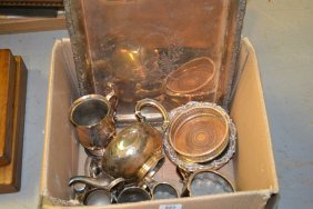 Quantity Of Miscellaneous Silver Plate Including Bottle