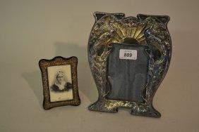 Art Nouveau Design Hallmarked Silver Photograph Frame,