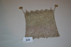 Chinese Silver Chain Mesh Evening Bag