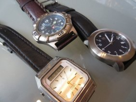 Swiss Army Stainless Steel Cased Wristwatch Together