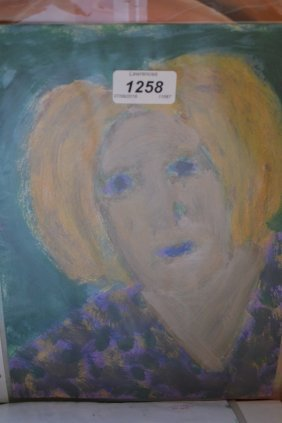 Stella Steyn, Watercolour, Portrait Of An Elderly Lady,