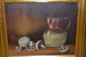 J. Ward, Pair Of Oil Paintings On Canvas, Still Life Of