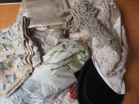 Quantity Of Silk Embroidered And Other Shawls, Costumes
