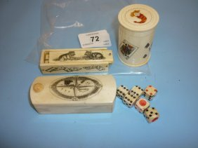 20th Century Carved Bone Scrimshaw Work Puzzle Box, The