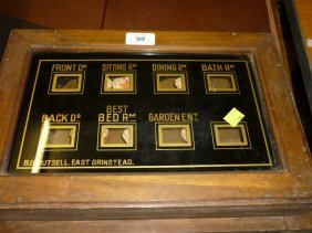19th Century Servants Bell Call Board