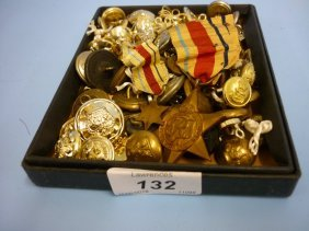 Quantity Of Various Military Buttons Etc