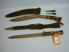 Alex Coppel, Bayonet With Scabbard Together With A