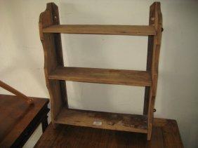 19th Century Three Shelf Pine Wall Bracket And A