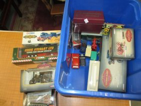 Box Containing A Quantity Of Various Die-cast Vehicles