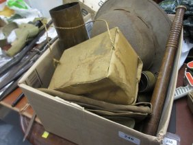 Box Containing A Quantity Of Various Military Related