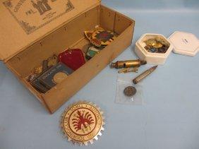 Circular Silver Royal Warwickshire Regiment Badge