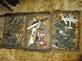 Large Collection Of Various Injection Moulded Aircraft