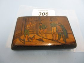 Early 19th Century Rectangular Pen Work Snuff Box, The