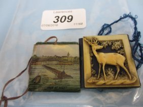Two 19th Century Stamp Cases, One Ivory Mounted With A