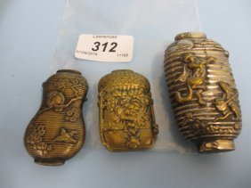 Three 19th Century Far Eastern Match Cases In The Form