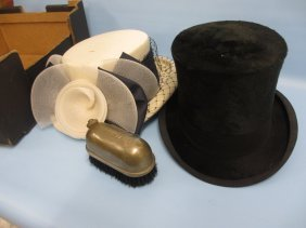 Black Top Hat Together With A Patent Water Heated Top