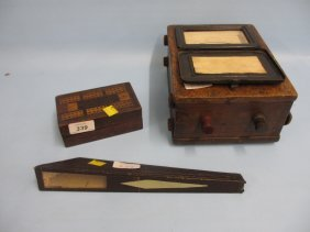 Parquetry Inlaid Cribb Board, A Kaleidoscope And A