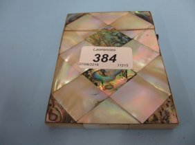 19th Century Mother Of Pearl And Abalone Visiting Card