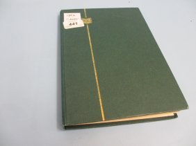 Green Stock Book Containing Collection Of British