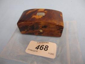 19th Century Miniature Tortoiseshell Box With Hinged