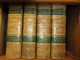 Four Volumes ' Dictionary Of The English Language ' By