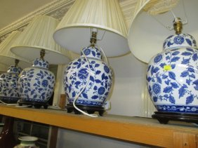 Set Of Four 20th Century Chinese Porcelain Blue And