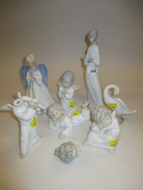 Group Of Seven Various Lladro And Other Spanish Figures